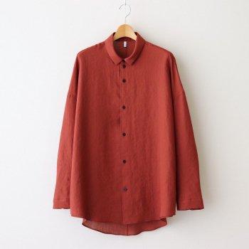 FTSOSH | スラブトリアセテート・ガーゼ スモールカラーオーバーシャツ #TERRACOTTA [AR_FR013SF] _ FIRMUM | フィルマム