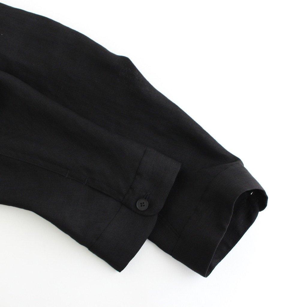 FTSOSH | スラブトリアセテート・ガーゼ スモールカラーオーバーシャツ #BLACK [AR_FR013SF]