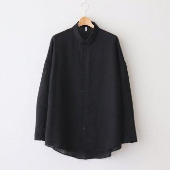 FTSOSH | スラブトリアセテート・ガーゼ スモールカラーオーバーシャツ #BLACK [AR_FR013SF] _ FIRMUM | フィルマム
