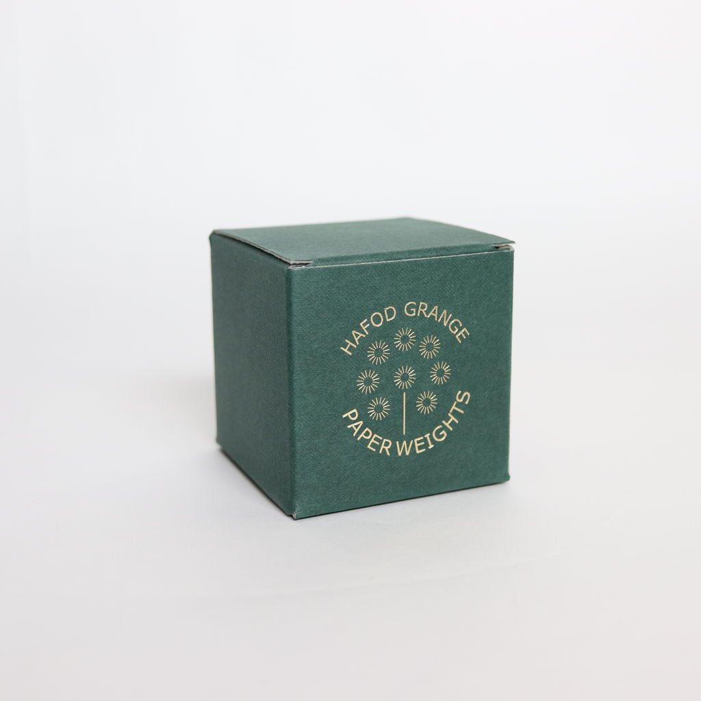 HAFOD GRANGE - PAPER WEIGHT SMALL HELLYCHRYSUM #ONE [HGPW1-007]
