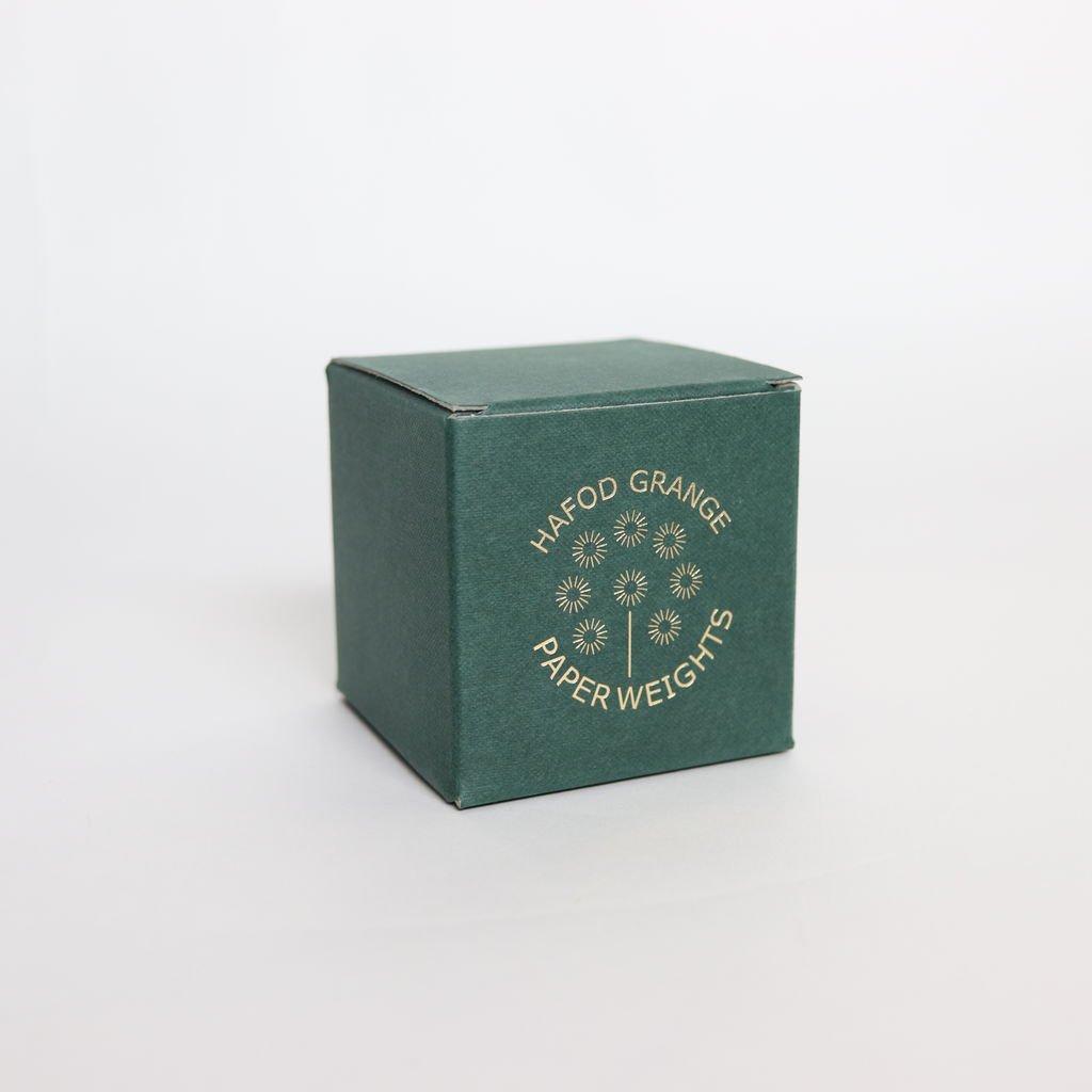 HAFOD GRANGE - PAPER WEIGHT SMALL RHODANTHE #ONE [HGPW1-008]
