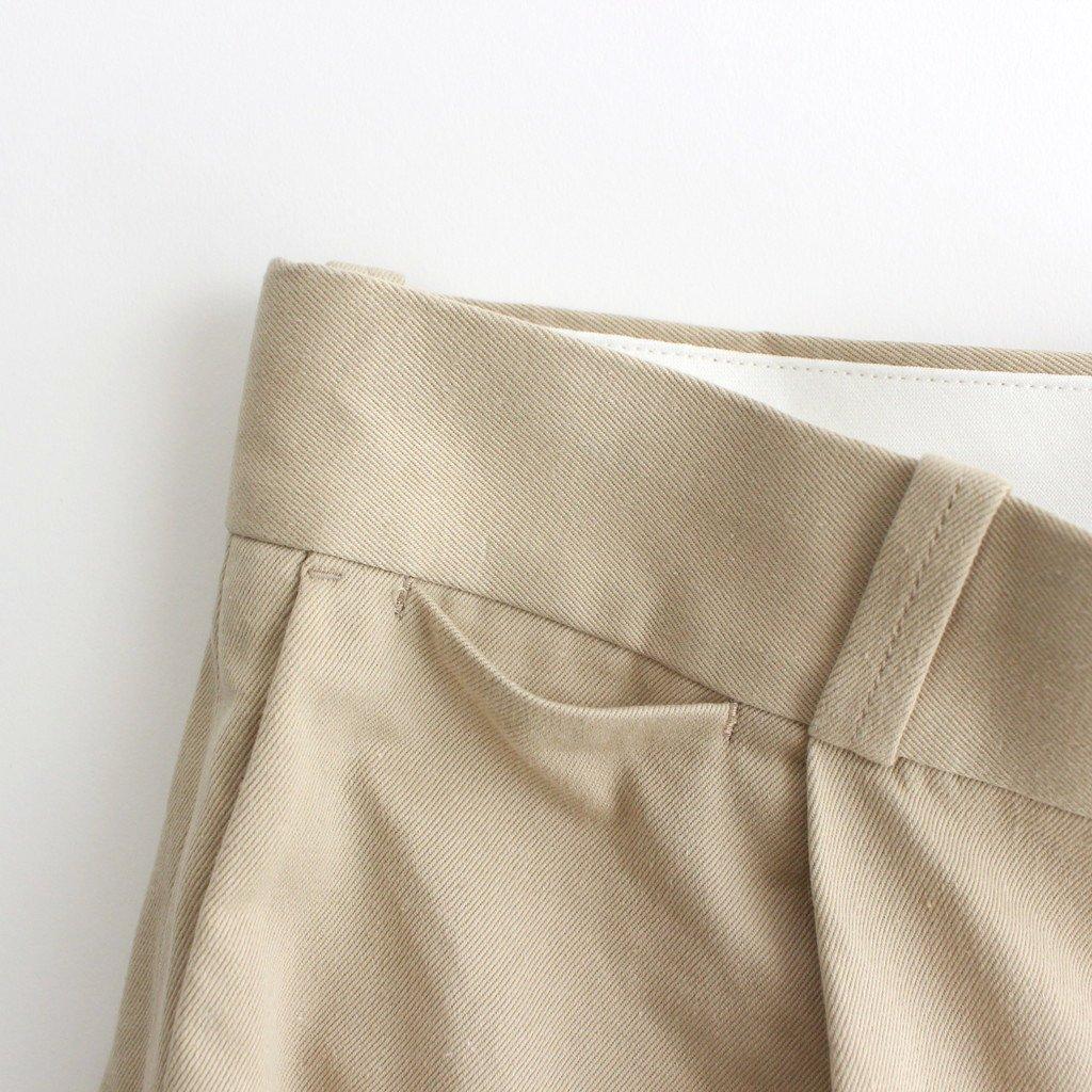 CHINO CLOTH PANTS TUCK STRAIGHT #BEIGE [61606]