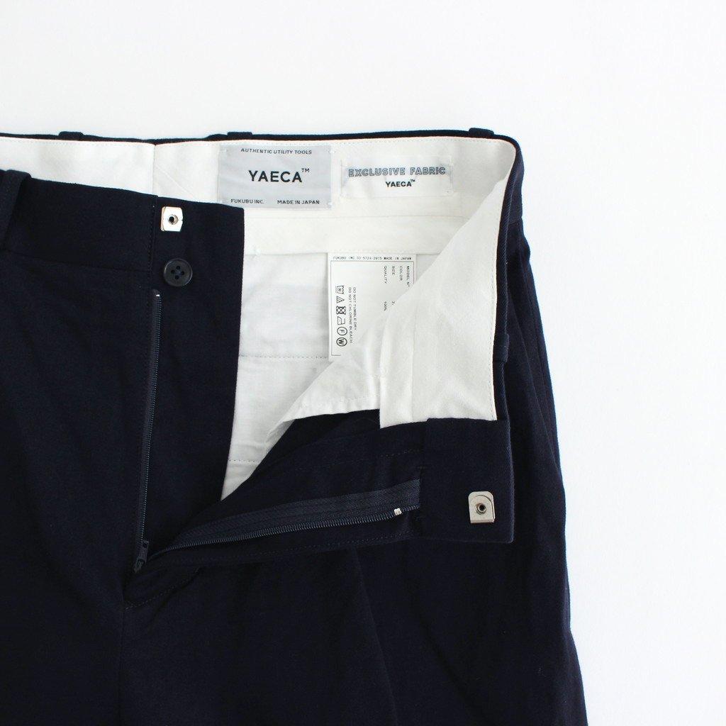 CHINO CLOTH PANTS TUCK STRAIGHT #NAVY [61606]