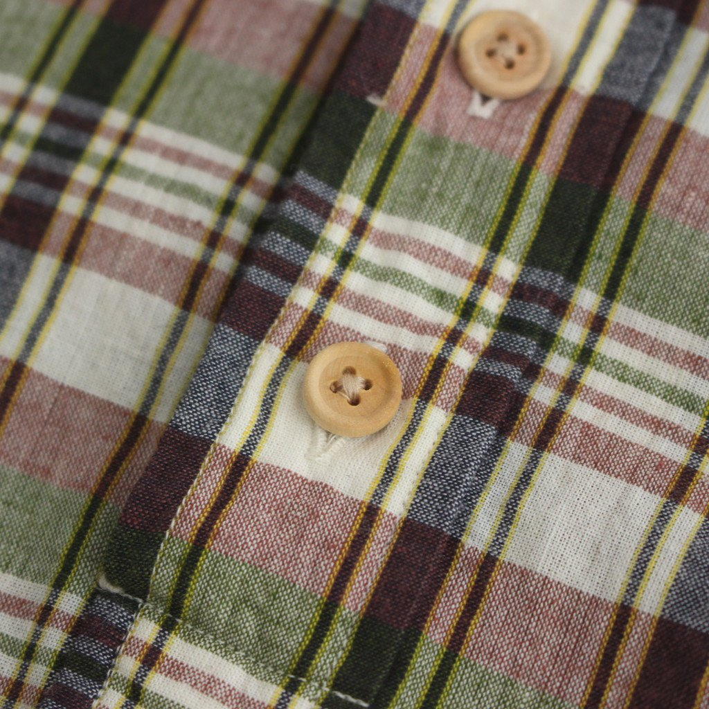 BUTTON SHIRT PO S/S #GREEN-CH [41114]