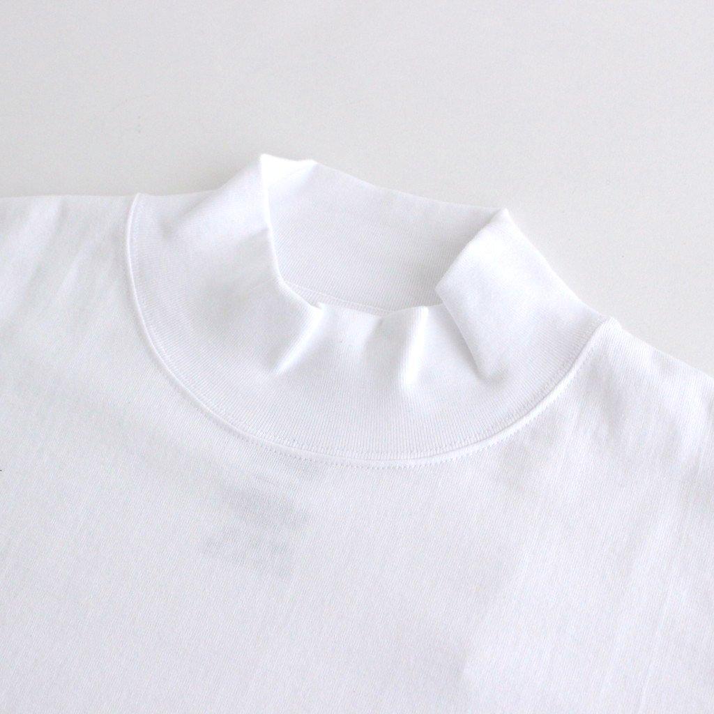 S/S MOCK NECK TEE #WHITE [GU212-70056B]