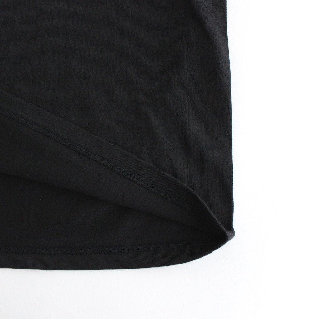 S/S MOCK NECK TEE #BLACK [GU212-70056B]