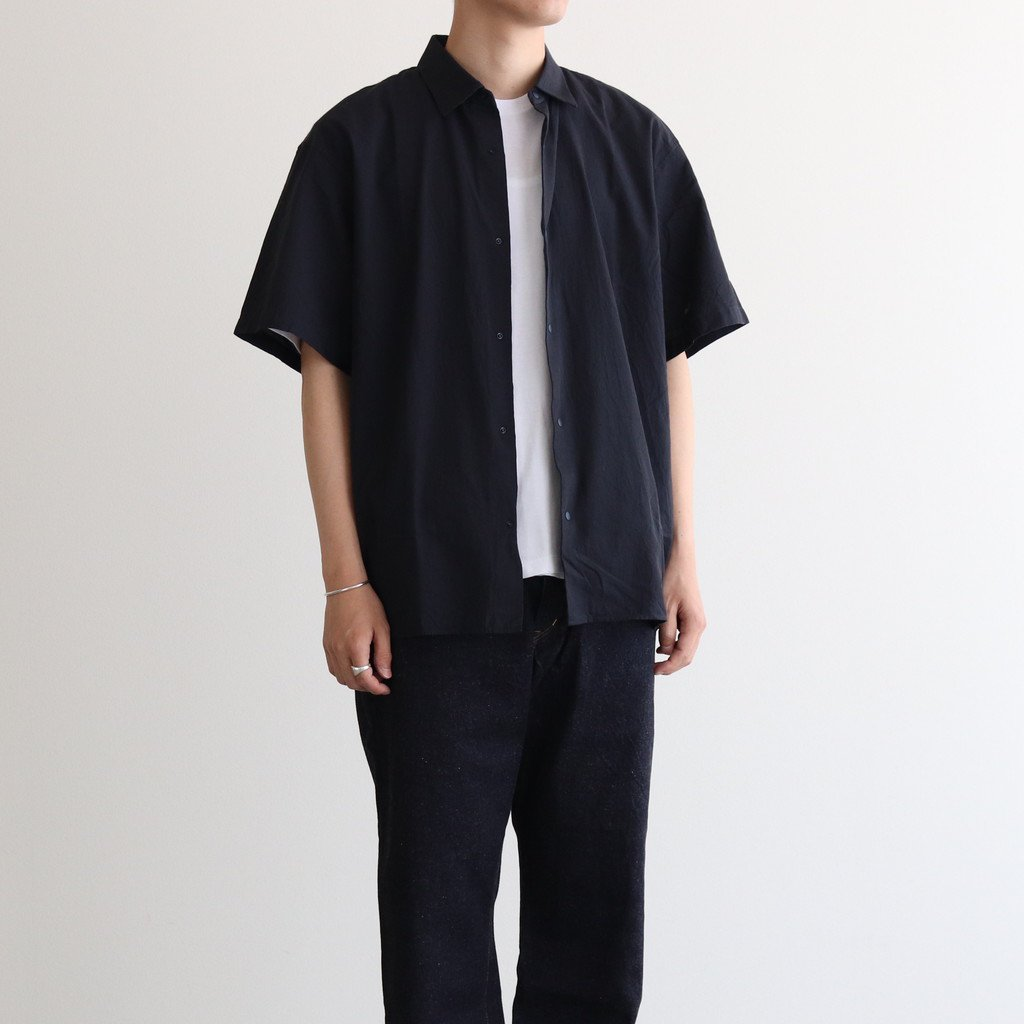 COMFORT SHIRT WIDE SQUARE S/S #NAVY [11139]