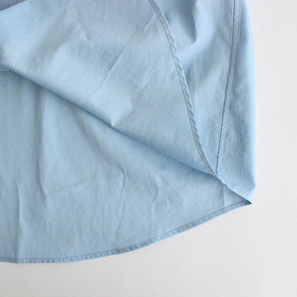 WASHED FINX TWILL BIG SHIRTS #LIGHT BLUE [A00S03TN]