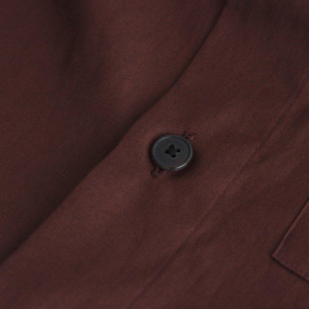 WASHED FINX TWILL BIG SHIRTS #BURGUNDY [A00S03TN]