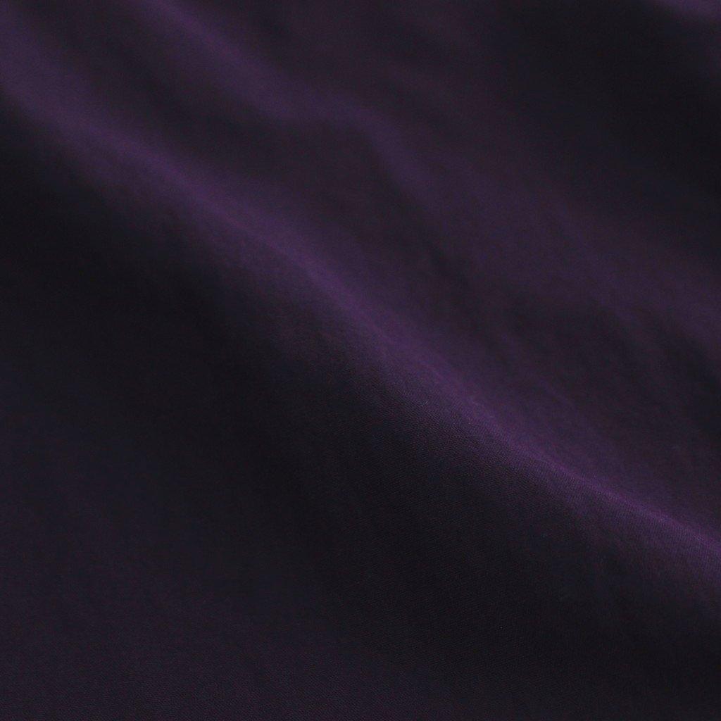 FSSCT|ナイロンタッサー/ガーメントダイ スタンドカラーリバーシブルオーバーコート #PLUM PURPLE [CW_FR103CT]