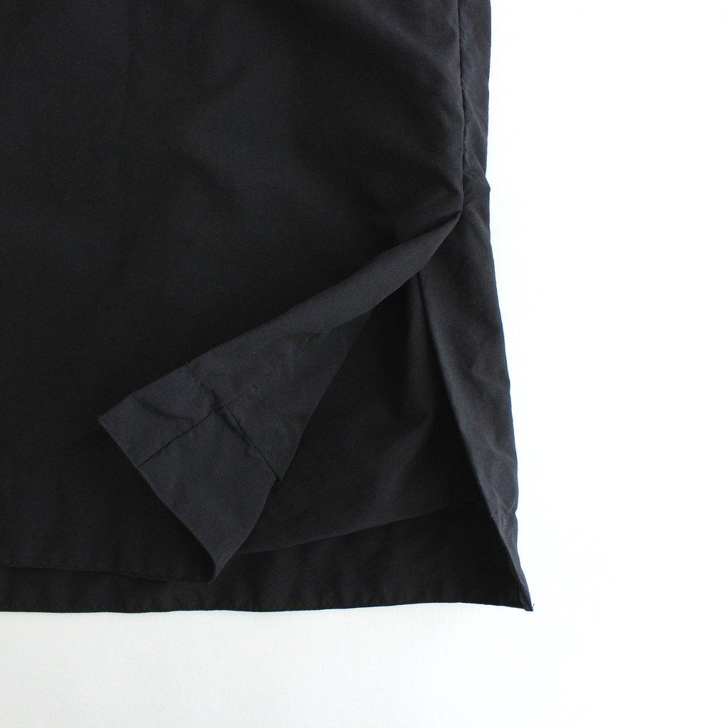 FSSCT|ナイロンタッサー/ガーメントダイ スタンドカラーリバーシブルオーバーコート #BLACK [CW_FR103CT]