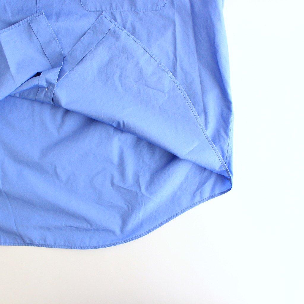 BROAD OVERSIZED L/S BAND COLLAR SHIRT #BLUE [GM213-50111B]
