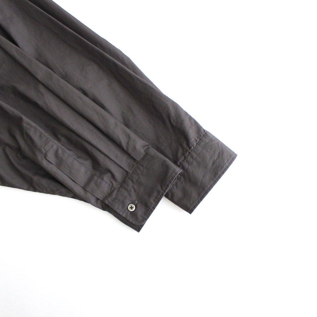 BROAD OVERSIZED L/S BAND COLLAR SHIRT #C.GRAY [GM213-50111B]