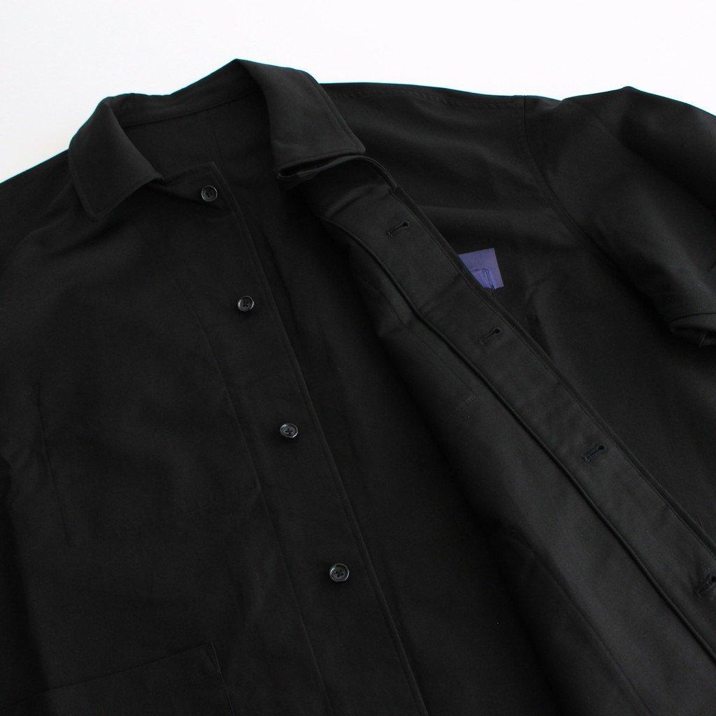 DOUBLE PLAIN WEAVE JACKET #BLACK [GM213-20122]