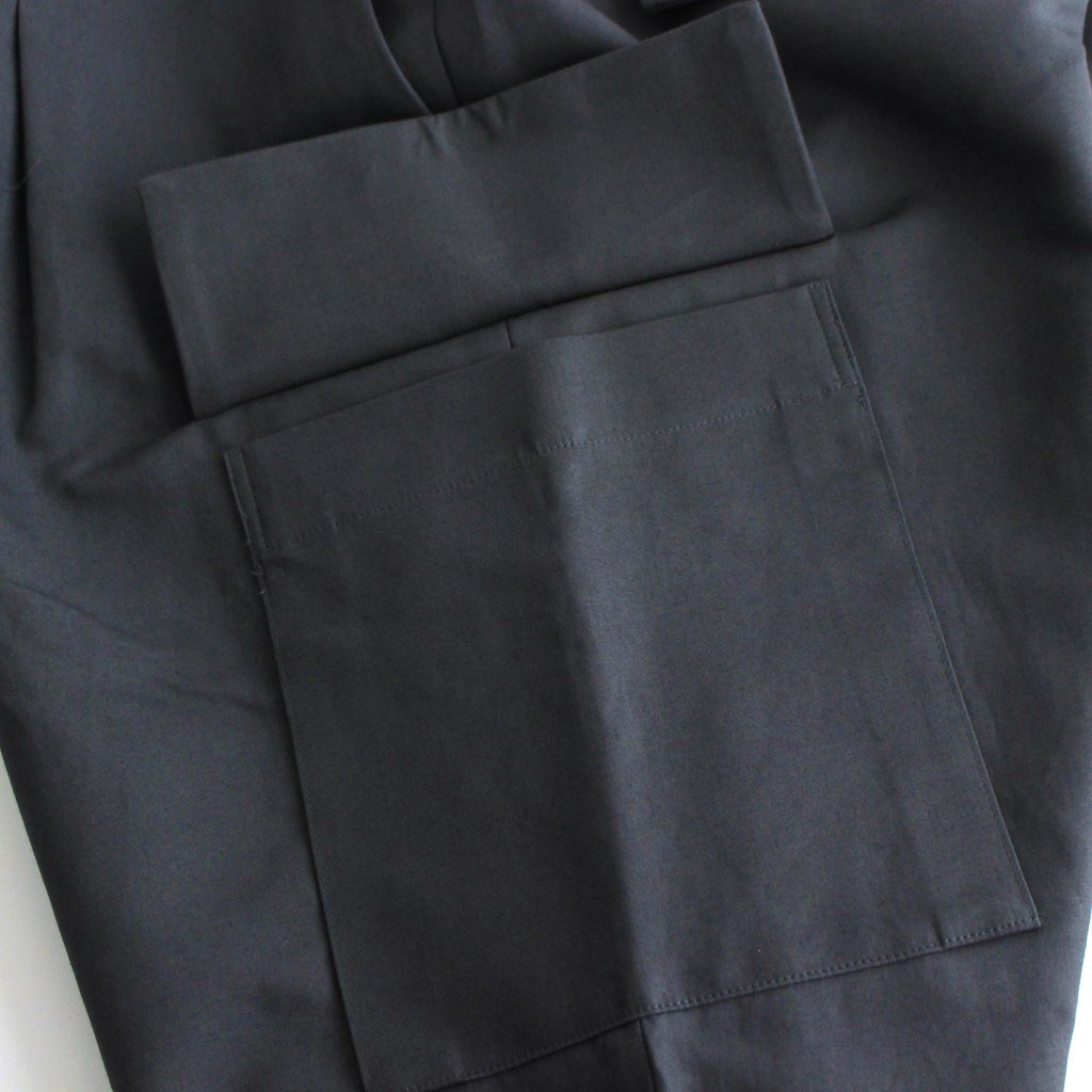 DOUBLE PLAIN WEAVE EASY MILITRARY PANTS #C.GRAY [GM213-40270]