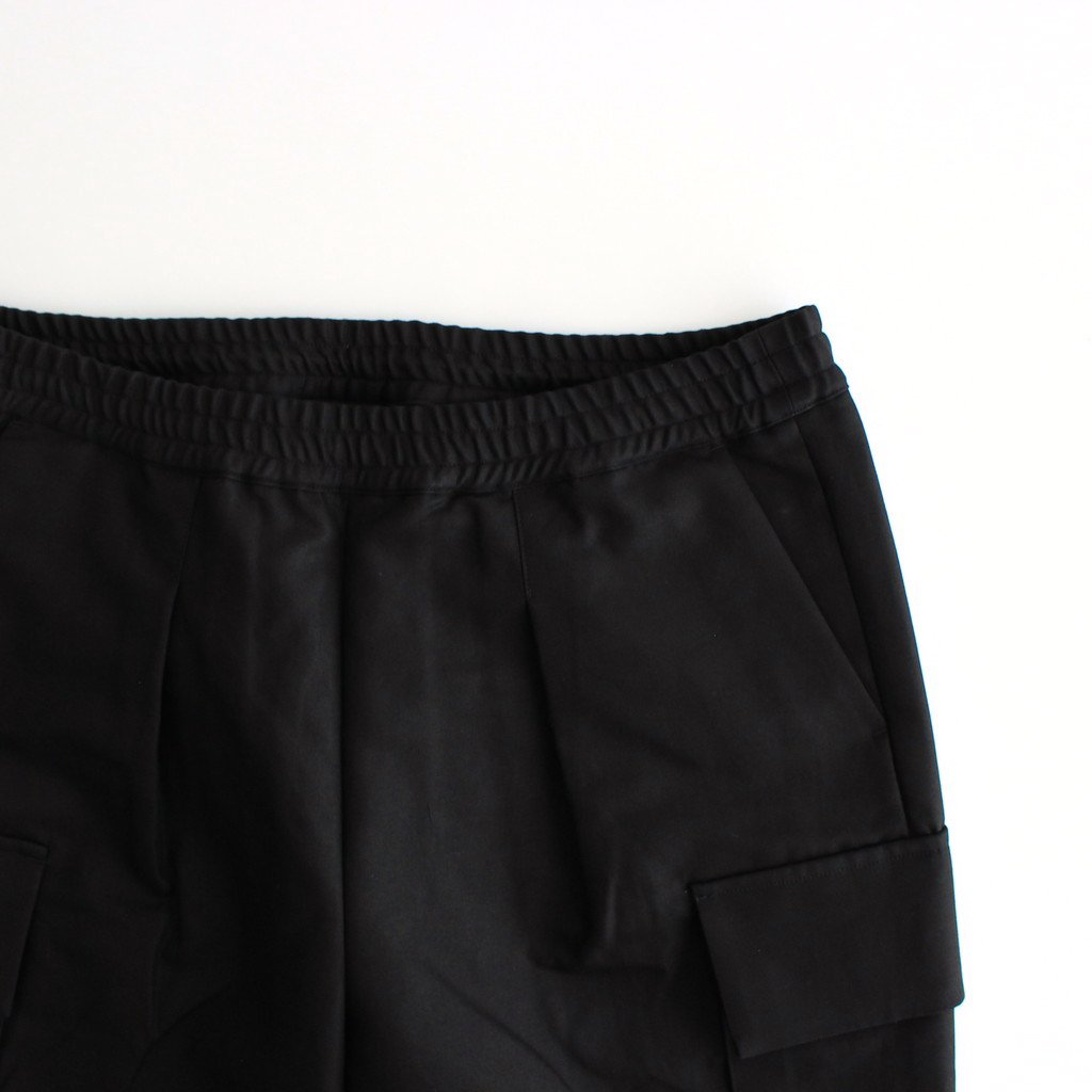 DOUBLE PLAIN WEAVE EASY MILITRARY PANTS #BLACK [GM213-40270]