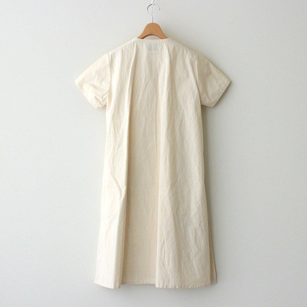 WRAP DRESS S/S #WHITE [91721]