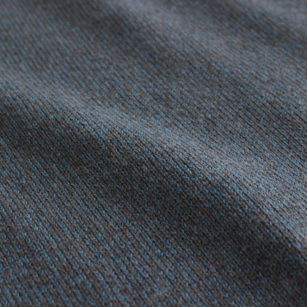 MOC NECK L/S #BLUE×BROWN [2103-005W]