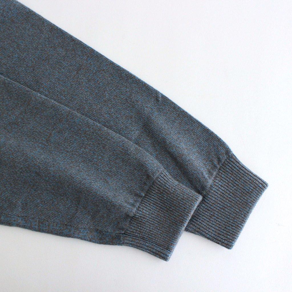 MOC NECK L/S #BLUE×BROWN [2103-005]