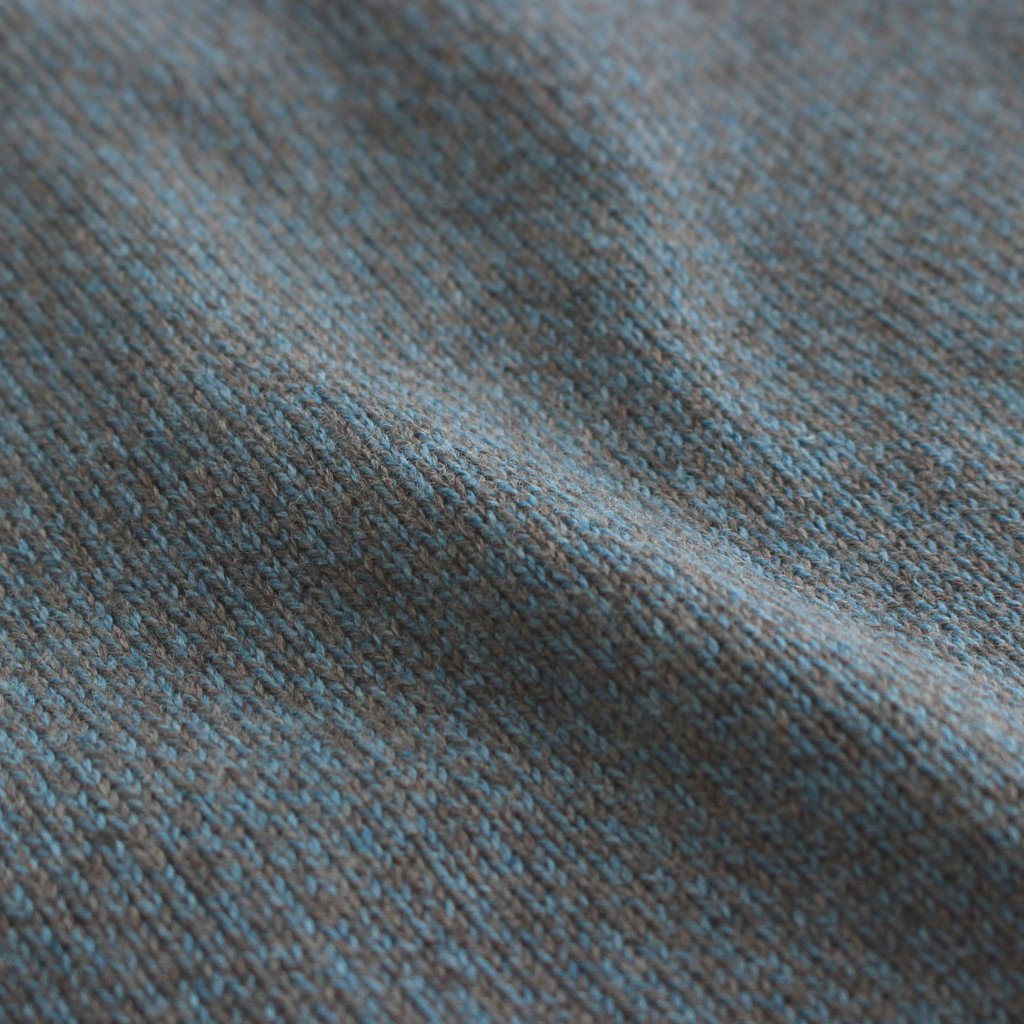 CARDIGAN #BLUE×BROWN [2103-006W]