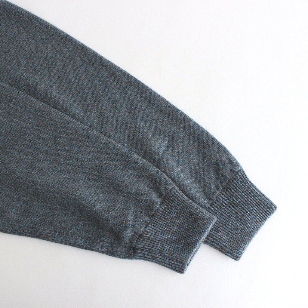 CARDIGAN #BLUE×BROWN [2103-006]