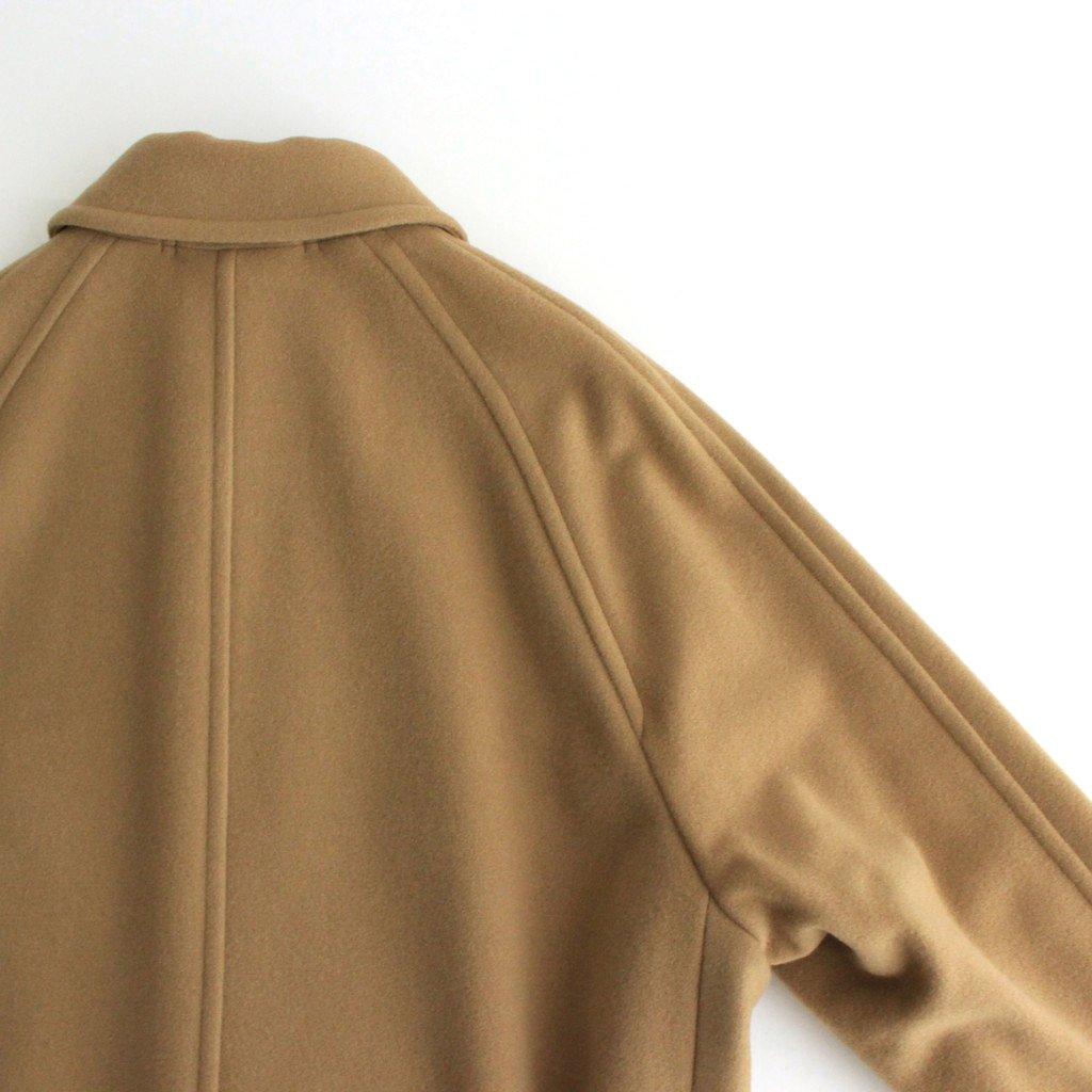 CASHMERE WOOL MOSSER SOUTIEN COLLAR COAT #CAMEL BEIGE [A21AC01MC]