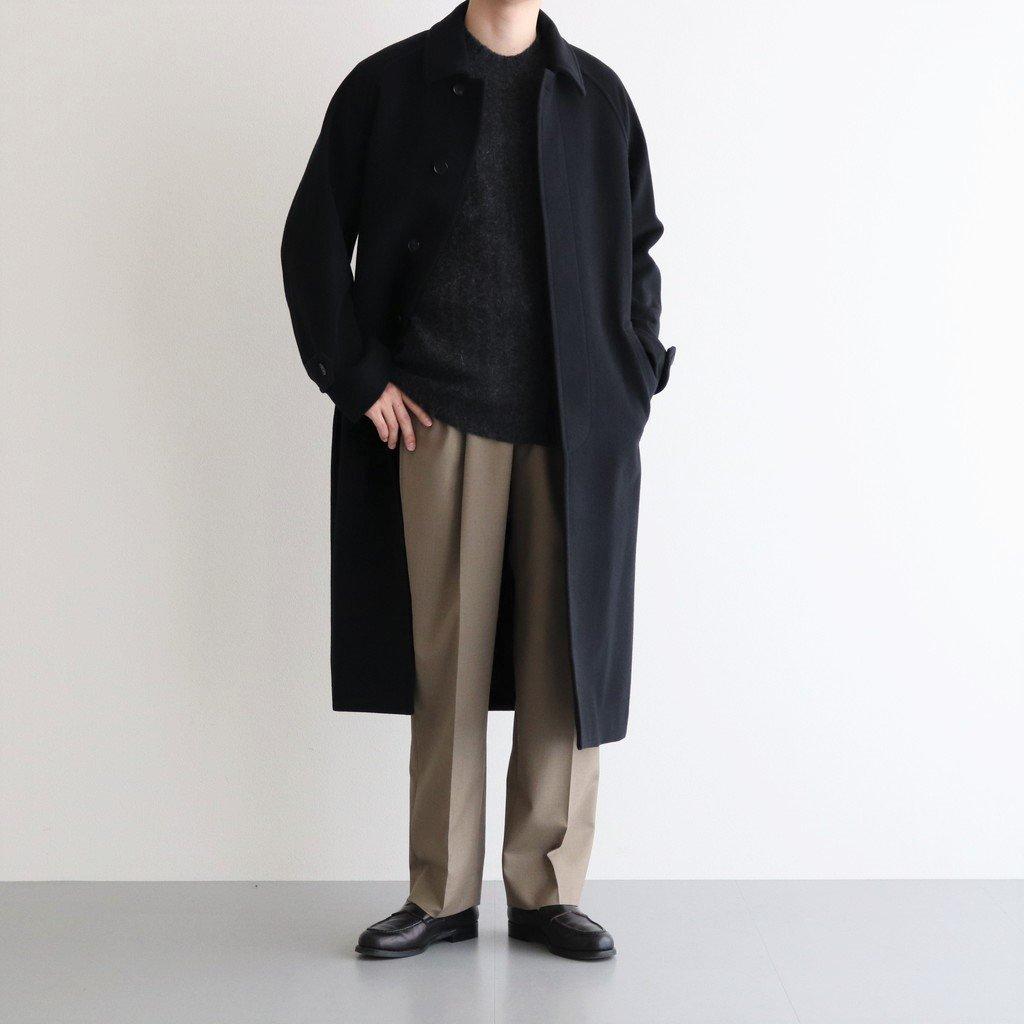 CASHMERE WOOL MOSSER SOUTIEN COLLAR COAT #BLACK [A21AC01MC]