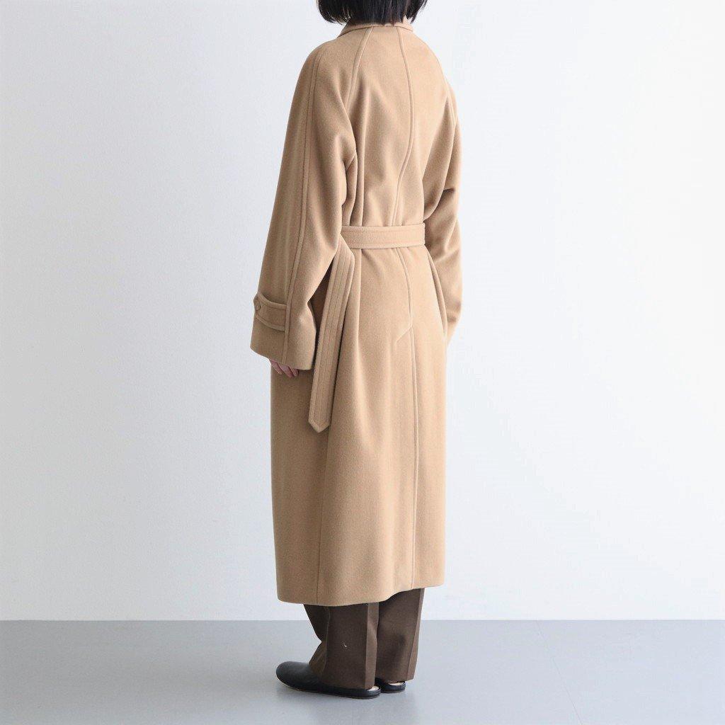 CASHMERE WOOL MOSSER SOUTIEN COLLAR COAT #CAMEL BEIGE [A21AC03MC]