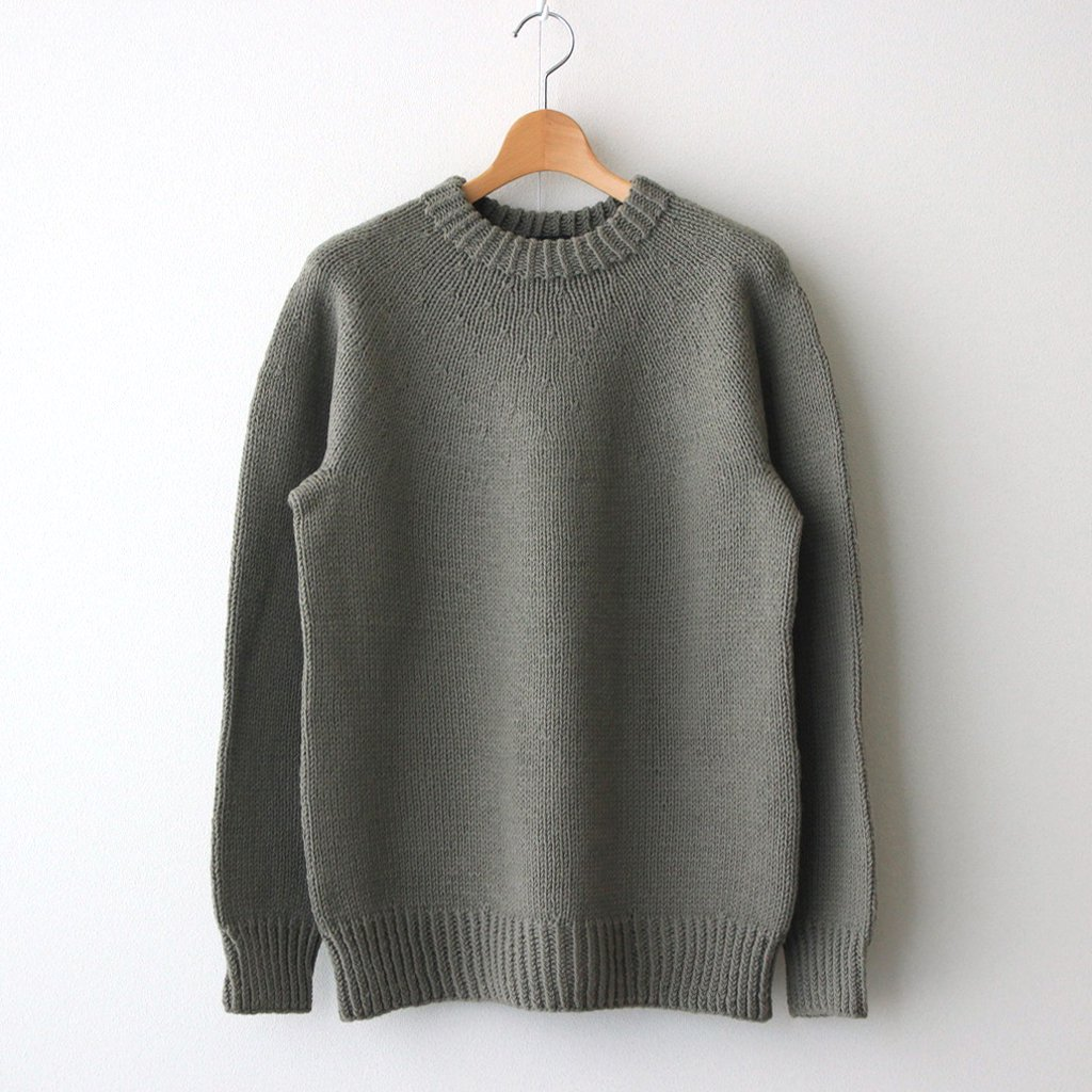 HAND KNITTED SWEATER #SAND BEIGE [H2102-K001]