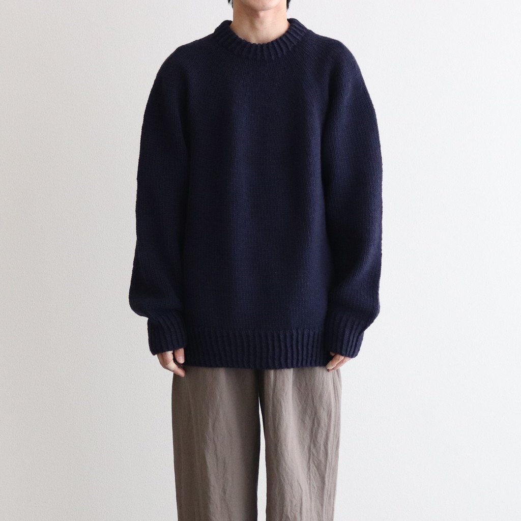 HAND KNITTED SWEATER #NAVY [H2102-K001]