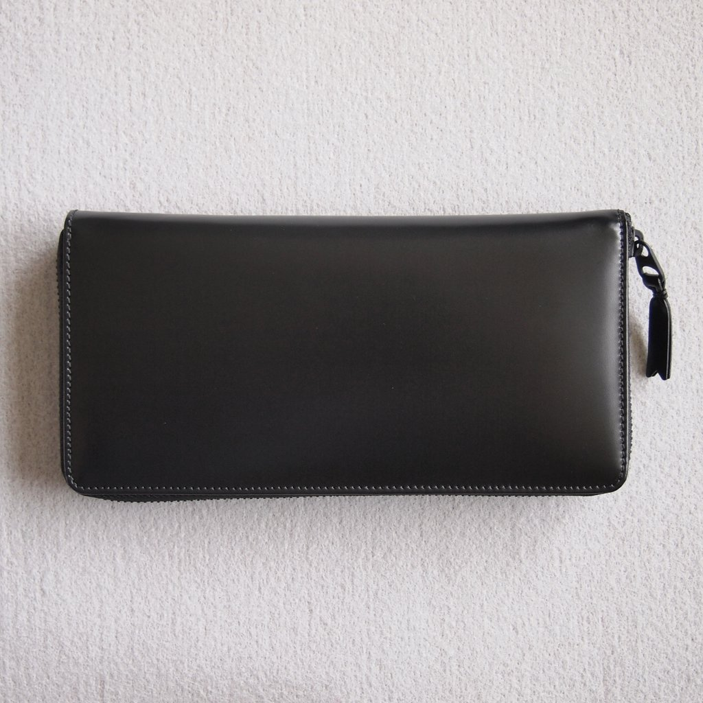二つ折りZIP長財布 SA0110VB #BLACK/VERY BLACK [8Z-I011-051-1]