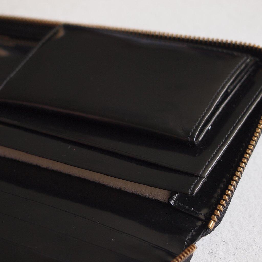 二つ折りZIP長財布 SA0110NE #BLACK/POLKA DOTS EMBOSSED [8Z-F011-051]
