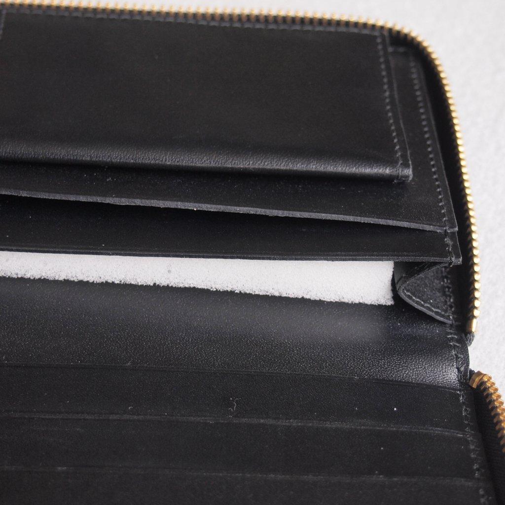 二つ折りZIP長財布 SA0110 #BLACK/CLASSIC LEATHER [8Z-D011-051-1]
