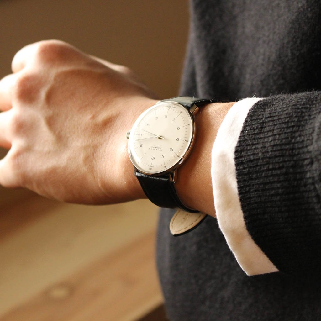 MAX BILL - AUTOMATIC WRIST WATCH NUMBER / WHITE DIAL [MBL020001]