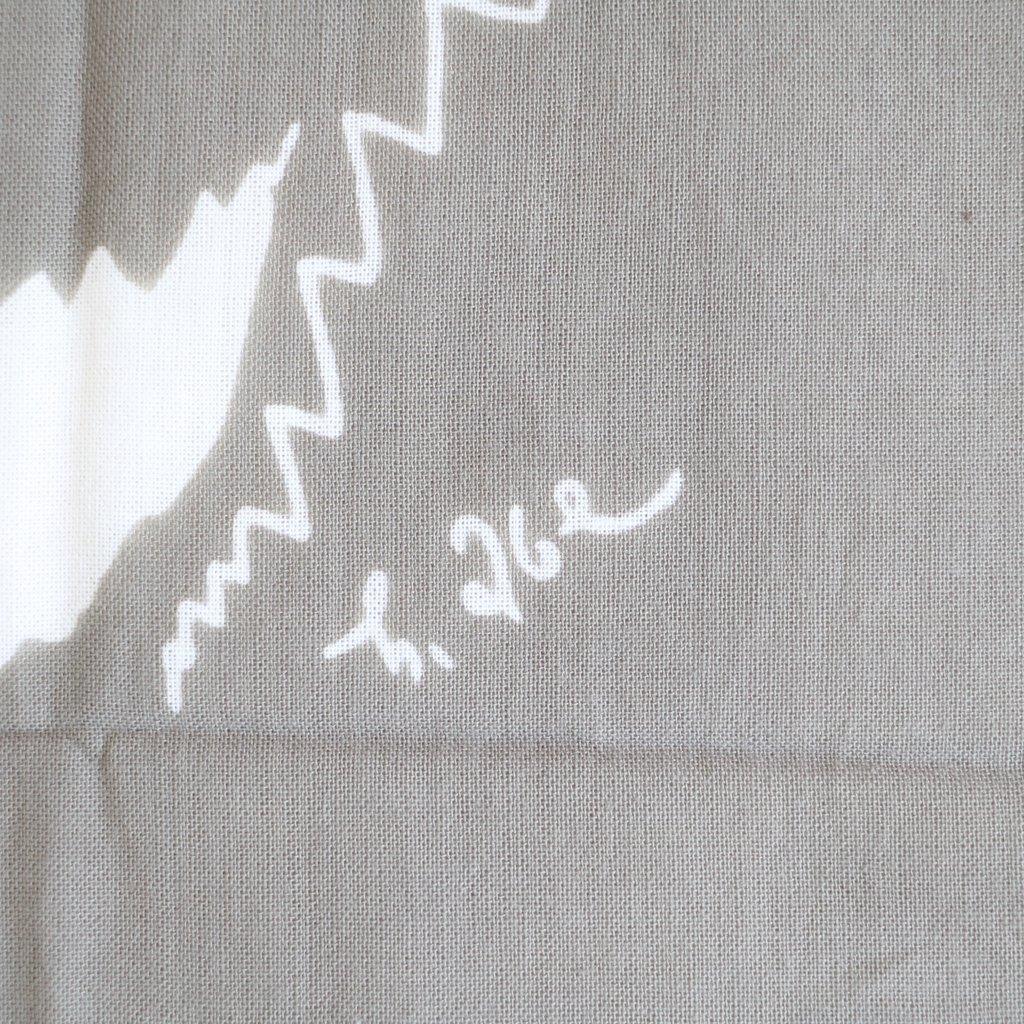 伊勢木綿の手ぬぐい #日本カモシカ