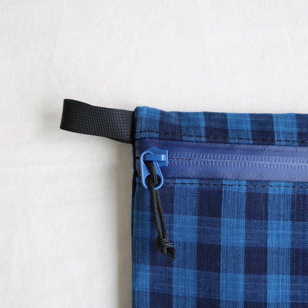 松阪木綿のクラッチバッグ #CHECK A/BLACK ZIP