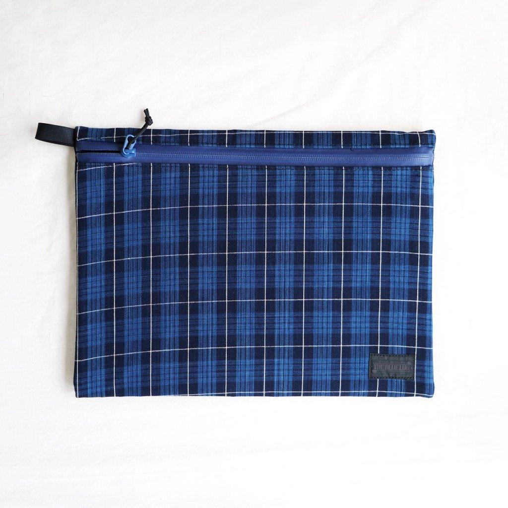 松阪木綿のクラッチバッグ #CHECK B/NAVY ZIP