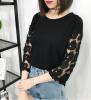 韓国ファッション 7部袖 フリブラウス Tシャツ