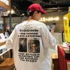 <img class='new_mark_img1' src='https://img.shop-pro.jp/img/new/icons53.gif' style='border:none;display:inline;margin:0px;padding:0px;width:auto;' />英字ロゴ バックプリント Tシャツ 韓国 ストリート オーバーサイズ ホワイト