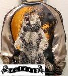 【satori/さとり】月に熊リバーシブルスカジャン GSJR-014 ブラック