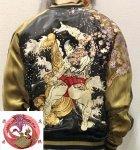 【花旅楽団】相撲刺繍スカジャン SSJ-515 ブラック