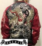 【satori/さとり】桜とあばれ龍刺繍スカジャン GSJR-022