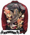 satori/さとり|菊と鬼鯉刺繍スカジャン GSJR-027