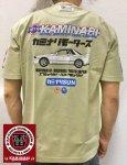 カミナリ|カミナリSUN半袖Tシャツ  KMT-202 黒/白/ベージュ