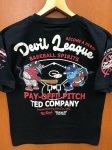 テッドマン|ベースボール半袖Tシャツ TDSS-510 黒/白