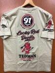 テッドマン|ロゴデザイン半袖Tシャツ TDSS-509 黒/白/ベージュ