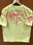 テッドマン|BLOW OUT THE BAD LUCK半袖Tシャツ TDSS-512 黒/白/カスタード/紺/緑/ワイン