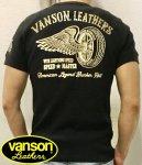VANSON バンソン|フライングホイールサーマル半袖Tシャツ NVST-2001 黒/TIE DYE
