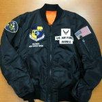 AVIREX/アヴィレックス|MA-1  SPACE COMMAND スペースコマンド 6182184 BLACK/NAVY