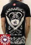 参丸一 サンマルイチ|海賊蛙カエル半袖Tシャツ ST-50050 黒